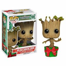 Funko Pop! Guardians Of The Galaxy Holiday Dancing Groot Bobble Head Figure