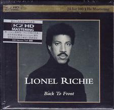 Lionel Richie Back to Front Japan K2HD 100KHz/24bit Mastering Audiophile CD New