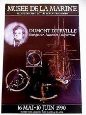 DUMONT D'URVILLE Navigateur Savant Découvreur Affiche Toulon Instruments marine