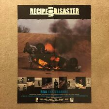 Rare Real Skateboards Recipe For Disaster Video Poster Gonz DLXSF HUF Busenitz