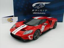GT-Spirit US008 - FORD GT Baujahr 2017 in rot mit weißen Rennstreifen 1:18 NEU