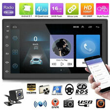 Double 2Din 7in Android 8.1 HD Quad Core GPS WiFi Car Stereo MP5 Player FM Radio