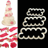 Cake Decor Fondant Gum Paste Easiest Carnation Ever Cutters Modelling Mould FO