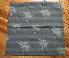 "Tommy Bahama Green Palm Tree Stripe Euro Sham Pillowcase 26"" Square"