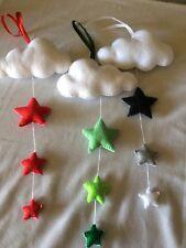 Handmade Felt Cloud Hanging decoration with stars