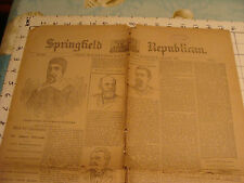 vintage paper: SPRINGFILED MASS 250th Anniversary suppliment May 26,1886