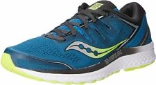 Saucony Men's Guide Iso 2 Road Running Shoe, Marine/Citron, 9 D(M) Us