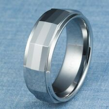 Tungsten Carbide Ring Mens Wedding Band Size 11