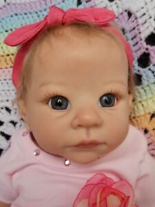 Cute, Rare Reborn Baby Doll Andi Awake by Linda Murray gendered girl