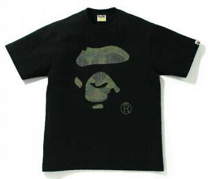 A BATHING APE Men's T-Shirt GLASS BEADS 1ST CAMO APE FACE Fast Shipping Japan