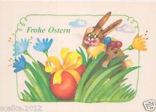 AK Frohe Ostern DDR ungelaufen Tiere Hase Stolarow Stil Karte Sammeln