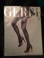 GERBE Paris Collant Frou Frou Collants factices Stocking Look Collants Taille 3 Noir Noir