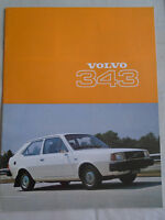 Volvo 343 range brochure 1977