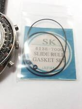 NEW GASKET SET FOR VINTAGE SEIKO6138-7000 CALCULATOR SLIDERULE CHRONOGRAPH