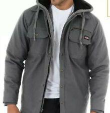 Mens Top Burgundy Gray 2 panel Hood Genuine Dickies Large Pocket NWT M L XL