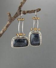 Vintage Women 925 Silver Wedding Engagement Jewelry Party Drop Dangle Earrings