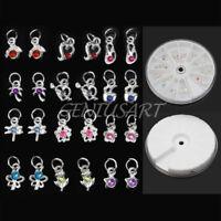 24 Multimotive Strass Nagelsticker Nagel Sticker Piercing Nagelpiercing Anhänger