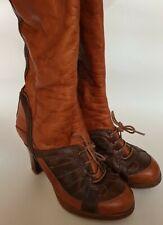 Ladies vintage kneehigh Brown leather boots 1970s  size 5 /38