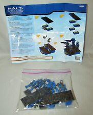 Mega Bloks HALO Blue Team Combat Unit Cobalt Marines Mini Figures 42 pc Complete
