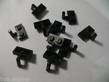 Lego 10 plates mod noires set 6079 6246 7261 6285  /10 black plate with arm
