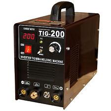 Appareil de soudage TIG 200 Inverter TIG/MMA HF-allumage de soudure bouclier/marteau Accessoires