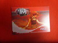 COKE COCA COLA LIVE05  SESSIONS XBOX ADVERTISING PROMO   POSTCARD