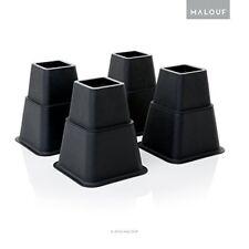 8 PC Leg Bed Table Raiser Heavy Duty Structures Furniture Bedpost Scratch Black