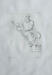 1834 LARGE ARCHITECTURAL PRINT BASILICA LATERAN ROME THE SAINT PRIEST ZECHARIAH