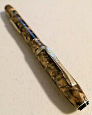 Vintage 1940s EVERLAST Fountain Pen Silver Brown 14KGF Nib Rare  --  912