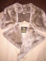 Vintage NEIMAN MARCUS WOOL Fur OVER COAT WINTER JACKET  MENS 40 NEW MINT
