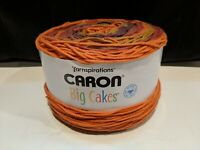 NEW CARON BIG CAKES CRANBERRY CRISP 26004  100% Acrylic Yarn 10.5oz 603 yards #4