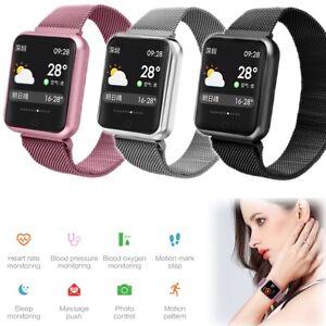 Men Women Bluetooth Smart Watch Fitness Tracker for Samsung S20 Ultra S10 S9 S8+