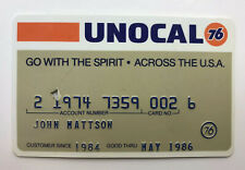 Vintage Union 76 Oil Company 1986 Unocal Gas Credit Card Automobile Collector