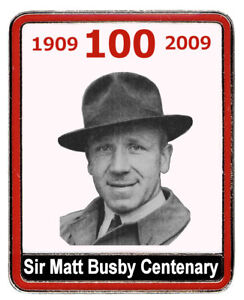 Sir Matt Busby - 100 Years Badge - by MUST - Manchester United Supporters Trust