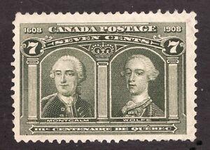 #100 - Canada - 1908 - 7 Cent -  MNG  - F -  superfleas -  cv$80