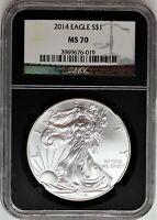 2014 $1 Silver Eagle NGC MS70 Black Core