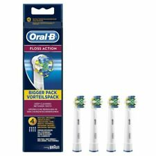 Braun Oral B Floss Action Toothbrush Replacement Refill Heads 4 In A Pack