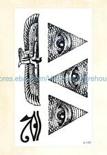US Seller- ancient Egyptian eye of Horus temporary tattoo fake realistic tattoos