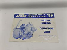 KTM 320454798 1999 250 / 300 / 380 ENGINE SPARE PARTS MANUAL