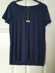 Maternity top size 10 blue