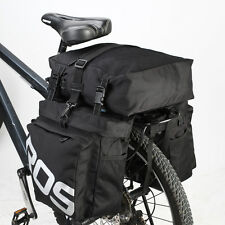 Roswheel Bicycle Rear Seat 3in1 Waterproof Bike Cycle Travel Pannier Bag Black