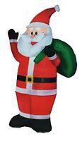 Airblown Inflatable Outdoor Decor Christmas Waving Santa 7 Ft. Tall Lights up