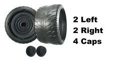 Power Wheels H0440 Cadillac Escalade TRU 4 Tires 2 Left & 2 Right GENUINE + Caps