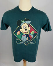 Vintage 90s Hip Hop Mickey Mouse Cross Color Block Indiana T Shirt L/M Disney