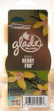 2 Glade Wax Melts 6 Packs Vanilla Merry Fun 2.3 Oz Air Freshener 12 Melts Total