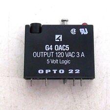 NEW OPTO 22 G4 0AC5 OUTPUT 120 VAC 3 A 5 VOLT LOGIC I/O MODULE RC