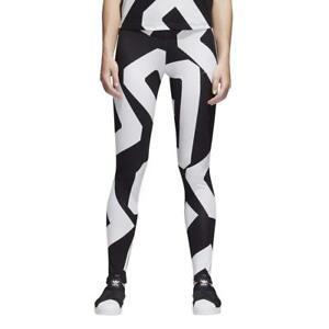 adidas Originals Womens Bold Age Graphic Print Long Tight Legging Gym Yoga Pants