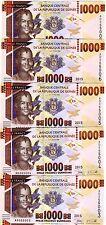 LOT Guinea, 5 x 1000 francs, 2015, Pick New, UNC > Redesigned