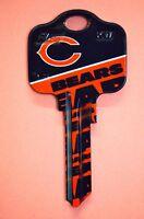 Great Gift Idea NFL CHICAGO BEARS KWIKSET KW1, KW10, KW11 UNCUT KEY BLANK