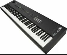 Yamaha Mx88 Music Synthesizer 88-key Piano Action Black Electronic Keyboard